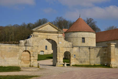 calais: Serans, France - march 14 2016 : the picturesque castle in spring Editorial