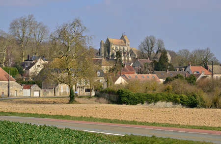 calais: the picturesque village in spring, Serans, France Stock Photo