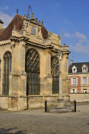 en: the historical church, Magny en Vexin, France
