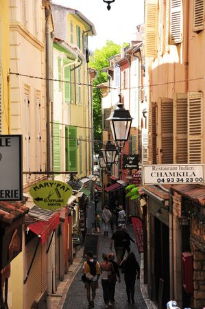 maritimes: Antibes, France - april 15 2016 : the picturesque city in spring