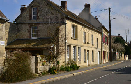 pas: Serans, France - march 14 2016 : the picturesque village in spring Editorial