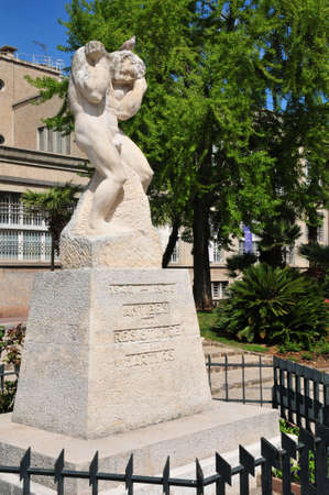 april 15: Antibes, France - april 15 2016 : the martyr of resistance memorial