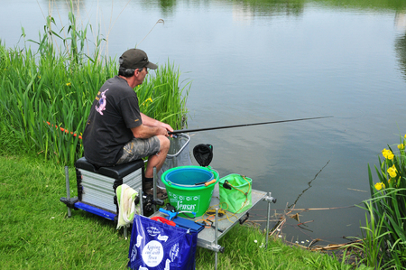 les: Les Mureaux, France - may 21 2016 : angler Editorial