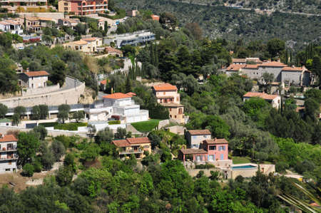 maritimes: the small old village, Eze, France Stock Photo
