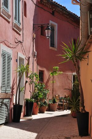 saint tropez: the picturesque old city in spring, Saint Tropez, France Stock Photo