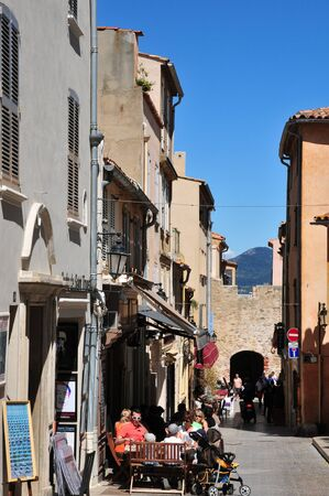 tropez: Saint Tropez; France - april 18 2016 : the picturesque old city in spring