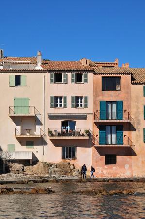 saint tropez: Saint Tropez; France - april 18 2016 : the picturesque old city in spring