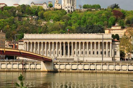 lyon: Lyon, France - april 13 2016: the neoclassical law court Editorial