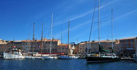 saint tropez: Saint Tropez; France - april 18 2016 : the picturesque port