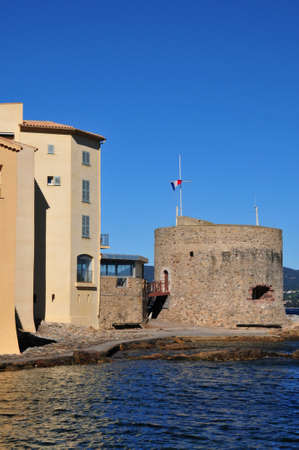 saint tropez: Saint Tropez; France - april 18 2016 : the picturesque old city in spring