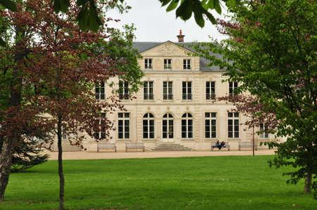 monument historical monument: Evreux, France - april 29 2016 : the Trangis castle in spring