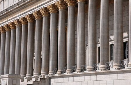 Lyon, Frankreich - 13. April 2016: das neoklassizistische Gericht