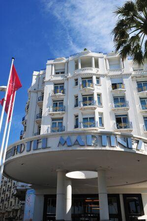 april 15: Cannes, France - april 15 2016 : a luxury hotel