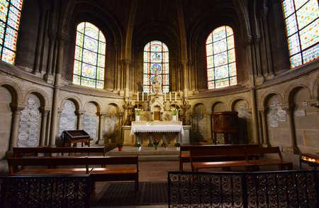 collegiate: Poissy, France - april 4 2016 : the picturesque collegiate church in spring Editorial