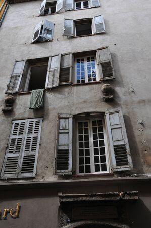 touristy: Grasse, France - the touristy city center Stock Photo