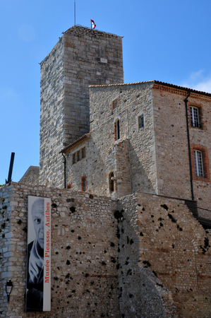 picasso: Antibes, France - april 15 2016 : the Picasso museum