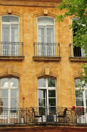 en: the picturesque city in spring in Aix en Provence, France