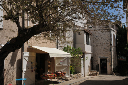 Le Castellet, France - april 20 2016 : the picturesque village in spring