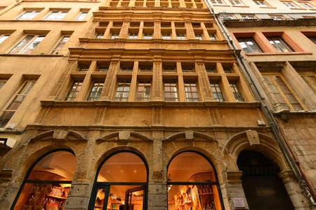 lyon: Lyon, France - april 13 2016: the picturesque saint Jean district in the old historical Lyon
