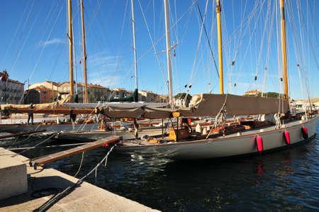 tropez: the picturesque port in Saint Tropez, France Editorial