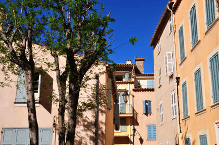 tropez: the picturesque old city in spring in Saint Tropez, France Stock Photo