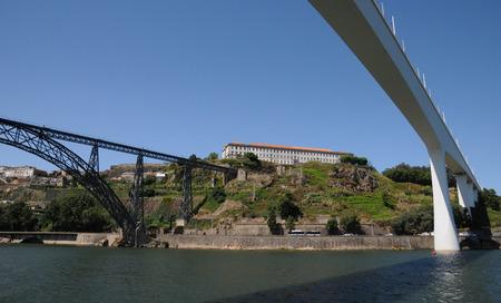 douro: bridge on Douro river in Porto, Portugal Stock Photo