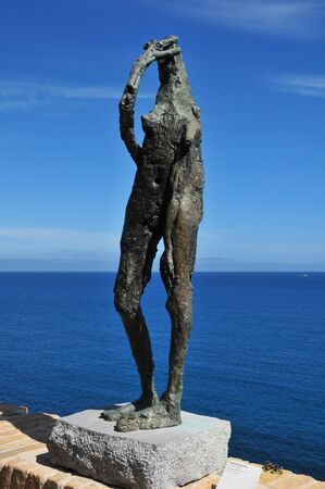 april 15: Antibes, France - april 15 2016 : sculpture in the Picasso museum Editorial