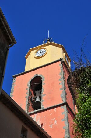 saint tropez: the bell tower of Notre Dame church in Saint Tropez, France