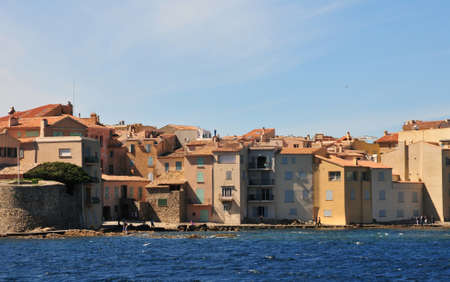 saint tropez: the picturesque old city in spring in Saint Tropez, France Stock Photo