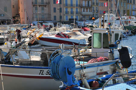 saint tropez: Saint Tropez; France - april 18 2016 : the picturesque port