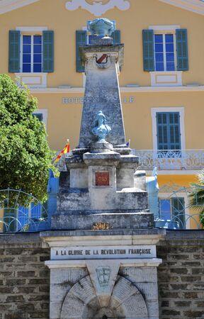 glorify: Bormes les Mimosas, France - april 18 2016 : a monument which glorify the revolution