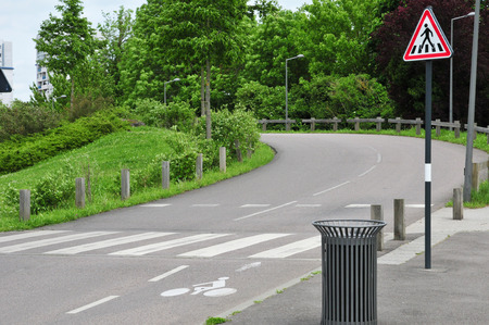 les: a bicycle lane in Les Mureaux, France