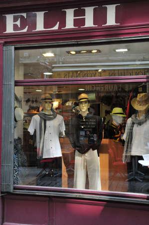 lyon: Lyon, France - april 13 2016: cloth shop in saint Jean district in the old historical Lyon Editorial