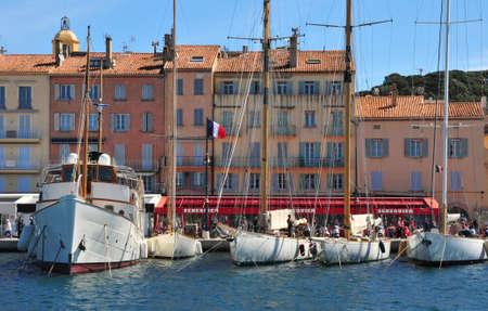 tropez: Saint Tropez; France - april 18 2016 : the picturesque port