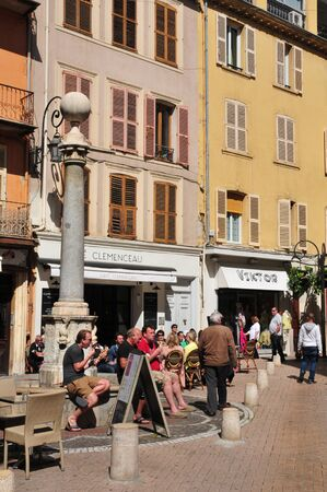 april 15: Antibes, France - april 15 2016 : bar in the picturesque city Editorial