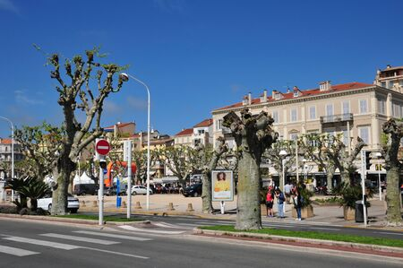 april 15: Cannes, France - april 15 2016 : the picturesque old city in spring