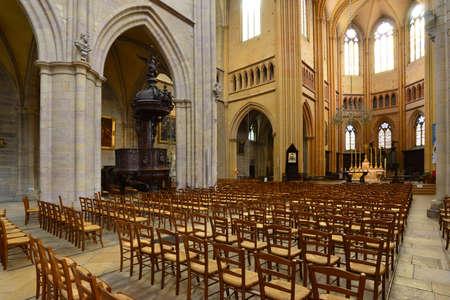 Dijon, France - april 22 2016 : the Saint Benigne cathedral Editorial