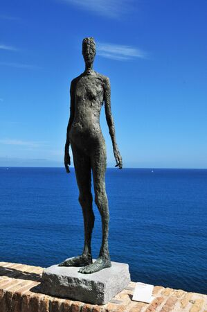 Antibes, France - april 15 2016 : sculpture in the Picasso museum Editorial
