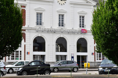 france station: Evreux, France - august 11 2016 : the train station