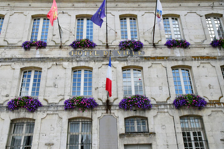 city hall: Bernay, France - august 11 2016 : the picturesque city hall Editorial