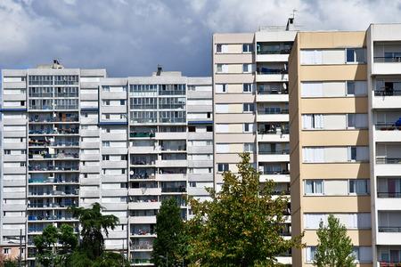 les: Les Mureaux, France - july 29 2016 : building in the city