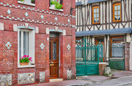 ry: Ry, France - june 23 2016 : the picturesque village in summer Stock Photo