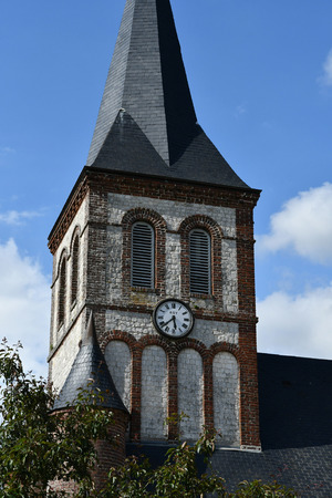 touristy: Betteville, France - june 22 2016 : the Saint Ouen church