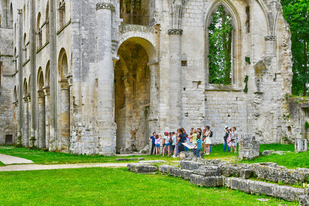 Jumieges, France - june 22 2016 : the Saint Pierre abbey Editorial