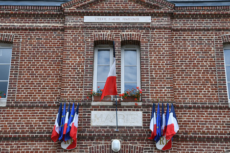 Le Mesnil sous Jumieges, France - june 22 2016 : the city hall