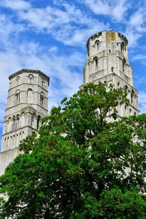 touristy: Jumieges, France - june 22 2016 : the Saint Pierre abbey Stock Photo