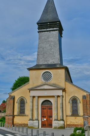 chant: La Neuville Chant d Oisel, France - june 22 2016 : the Notre Dame church