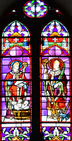 re: Sainte Marie de Re, France - september 25 2016 : the Notre Dame church stained glass window Editorial
