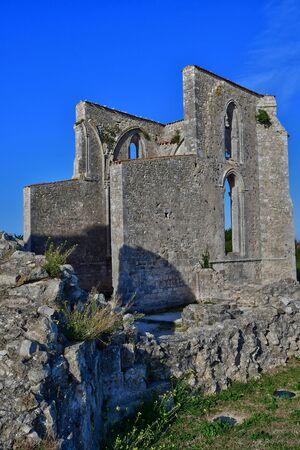 La Flotte, France - september 25 2016 : the Notre Dame de Re cistercian abbey Editorial