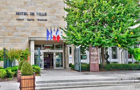 マント ・ ラ ・ ジョリー, フランス - 2016 年 10 月 18 日: 市庁舎
